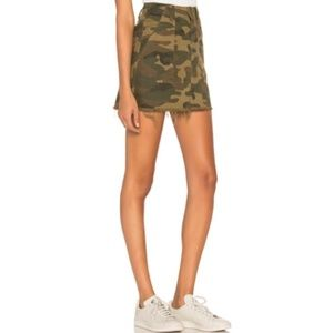 Blank NYC Utility A Line Hi Rise Comouflage Skirt